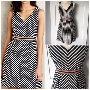 Anthropologie Maeve miltered striped dress, 10